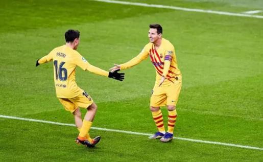 Messi y Pedri, Barcelona.