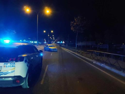 Imagen de archivo de un accidente de tráfico en Ibiza.