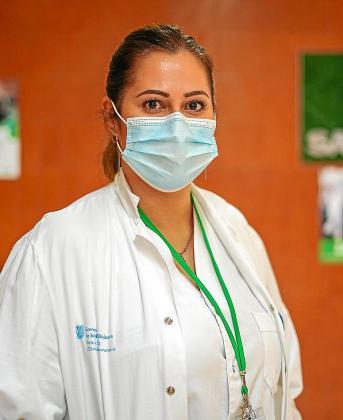 Nerea Carreras, ayer, en la oficina del sindicato SATSE en Can Misses.