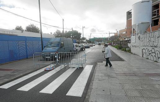 Este es el tramo de la calle Font i Quer que permitirá conectar la calle Músic Fermí Marí con la avenida de Sant Josep.
