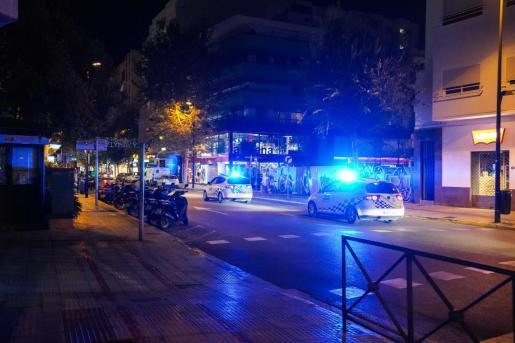 Un coche de la Policía Local de Ibiza.