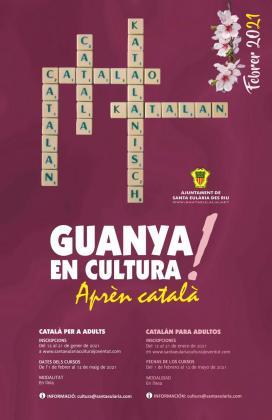 Cartel del curso de catalán.