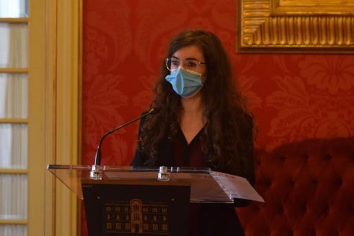 La portavoz adjunta del Grupo Unidas Podemos, Esperança Sans, en el Parlament balear.
