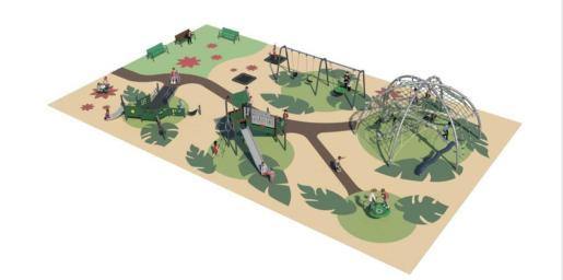 Así será la renovación del parque infantil de Ca n'Escandell.