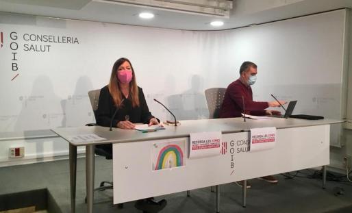Patricia Gómez y Carlos Villafàfila, durante la rueda de prensa de ayer.