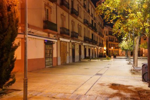 Hostelería cerrada en Ibiza.