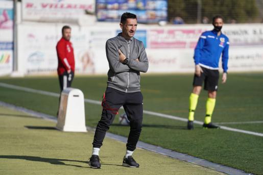 Raúl Casañ, durante el encuentro del sábado contra el Real Valladolid.