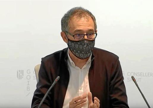 Javier Arranz, durante la rueda de prensa de ayer.