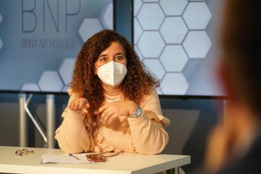 Pilar Costa, ayer en el BNP.