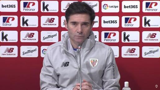 Marcelino García Toral, ayer durante la rueda de prensa que ofreció vía telemática.