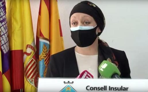 Alejandra Ferrer, durante la rueda de prensa.