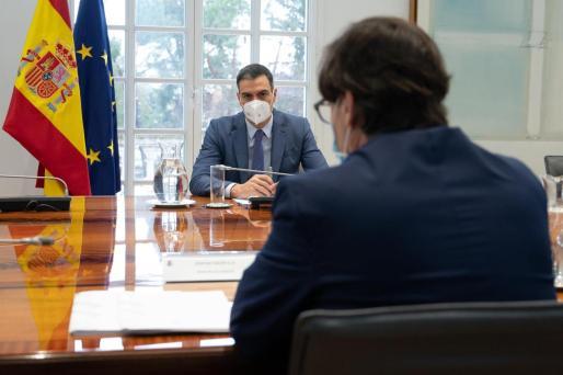 Sánchez e Illa, en una reunión.