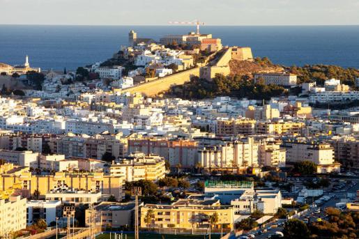 Parte de la ciudad de Ibiza.