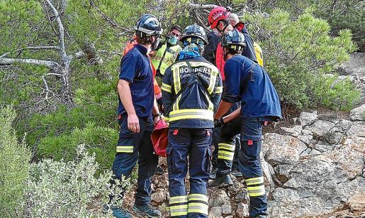 Imagen de archivo de un rescate realizado por los bomberos.