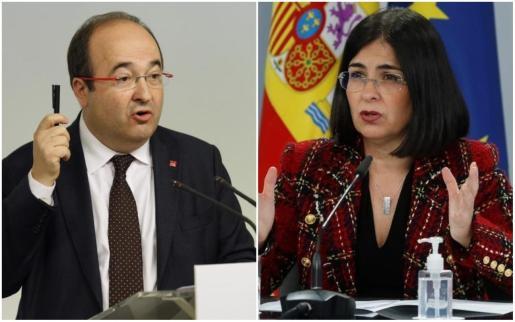 Miquel Iceta y Carolina Darias.