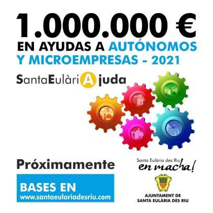 Santa Eulària destinará un millón de euros a su línea de ayudas para autónomos y micro pymes.