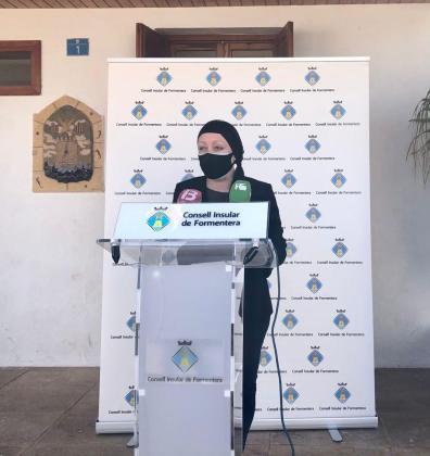 Alejandra Ferrer en la rueda de prensa celebrada este miércoles.