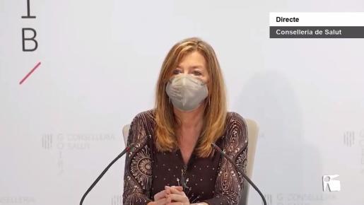 Patricia Gómez en la rueda de prensa que brindó junto a Javier Arranz.