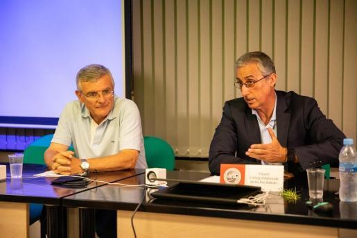 El presidente de la Audiencia, Diego Gómez-Reino (d), en una imagen de archivo.