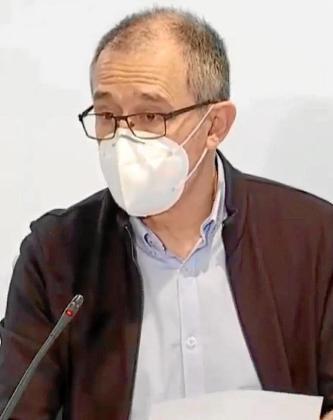 Javier Arranz, ayer por la mañana, en rueda de prensa.