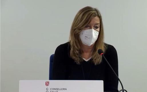 Patricia Gómez en la rueda de prensa celebrada en Can Misses.