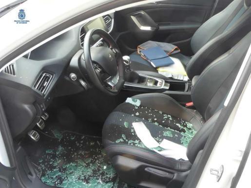 Imagen de uno de los coches afectados.