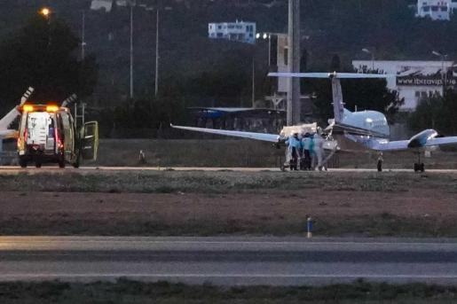 El traslado al hospital de Mallorca se produjo ayer por la tarde.