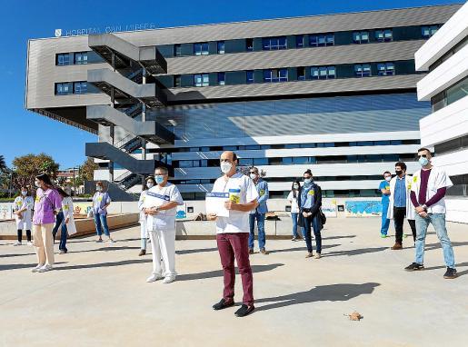 Imagen de archivo de una de las últimas huelgas de médicos en Ibiza.