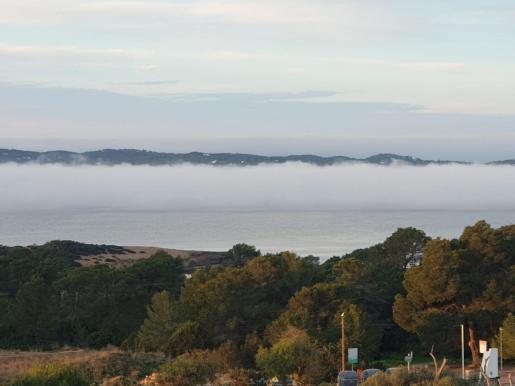 Un banco de niebla en la mañana de este jueves en Sant Antoni.