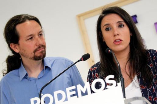 Imagen de Pablo Iglesias e Irene Montero.