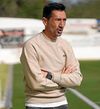 Raúl Casañ, ayer durante el partido.
