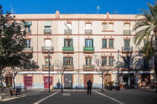 Locales cerrados en la ciudad de Ibiza.