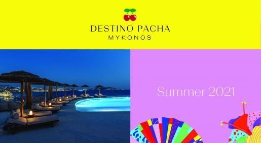 Una imagen de la zona de la piscina de Destino Pacha Mykonos, que se inaugura en junio.