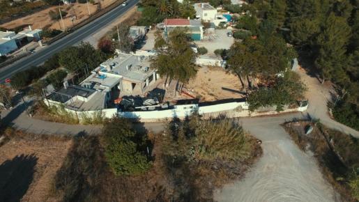 una imagen desde un dron de Km.5 en julio de 2020.