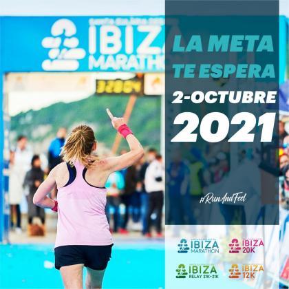 Cartel de la IV edición del Santa Eulària Ibiza Marathon.
