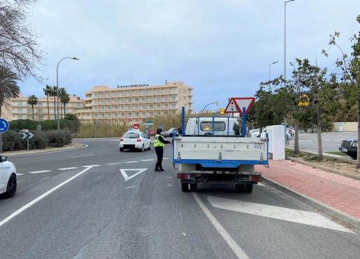 Imagen de un control de la policía
