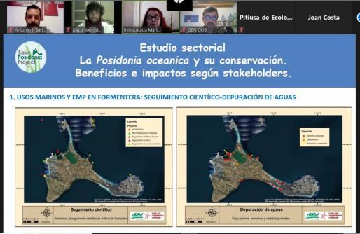 Presentación de las conclusiones del proyecto 'Posidonia y usos marinos sostenibles en Formentera'.