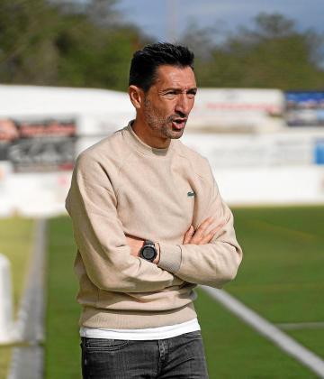 Raúl Casañ, durante el partido entre la Peña Deportiva y el Hércules.
