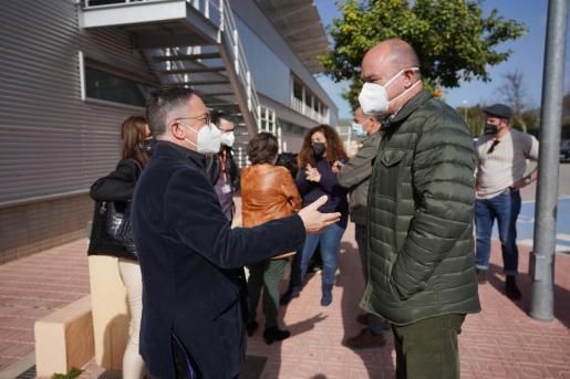 Josep Marí Ribas y Vicent Marí, el pasado sábado en Can Guerxo, serán futuros rivales al Consell en 2023.