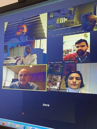 Imagen de la reunión telemática celebrada el pasado viernes.