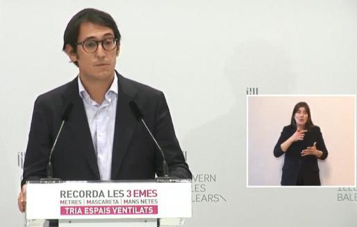 Iago Negueruela. portavoz del Govern.