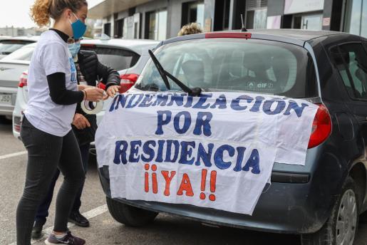 Manifestación de los sanitarios de Ibiza celebrada el pasado domingo.