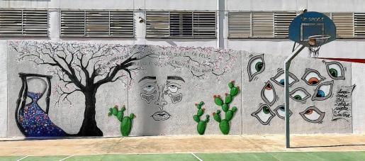 Mural con mensaje positivo.