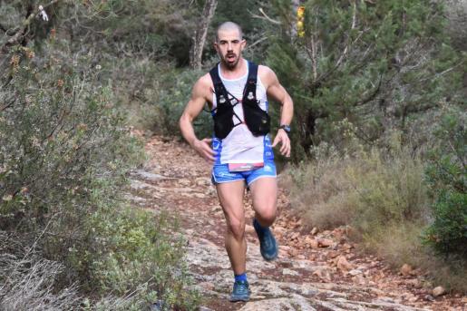 Nacho Ribas, durante una carrera.