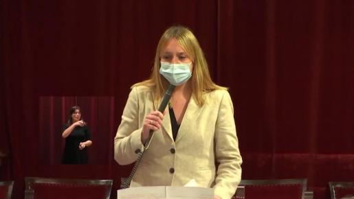 Tania Marí, durante su intervención de ayer