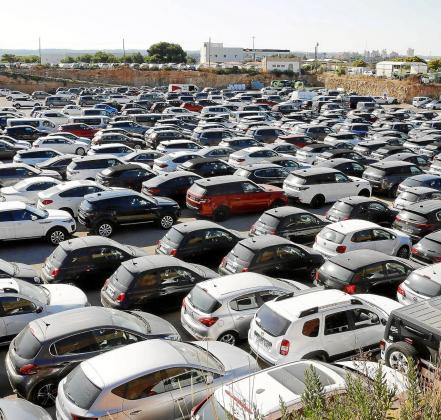 Vista de una empresa de coches de alquiler en Mallorca.