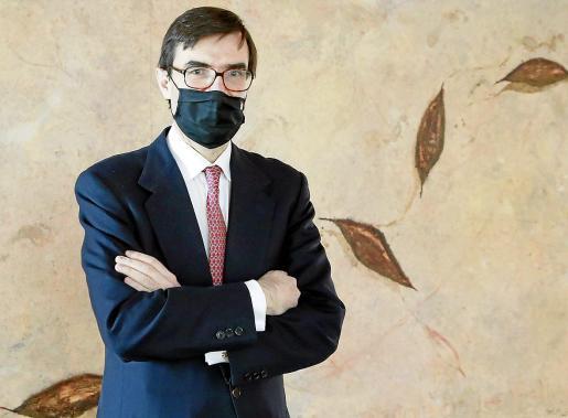 El secretario de Estado para la Unión Europea, Juan González-Barba, en Menorca.