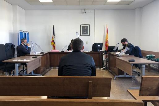 El acusado, en el juicio celebrado la mañana de este jueves en Palma.
