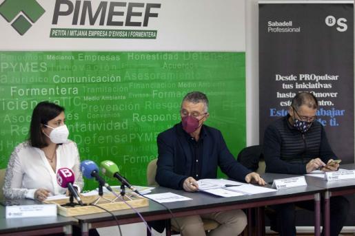 Rueda de prensa de los presentantes de Pimeef celebrada este lunes.