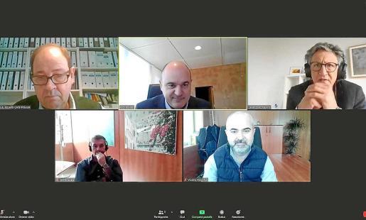 Imagen del encuentro virtual que tuvo lugar ayer.